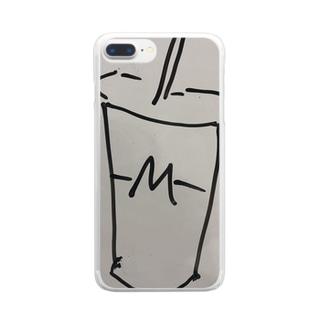 ハンバーガーショップのシェイクロゴ Clear smartphone cases