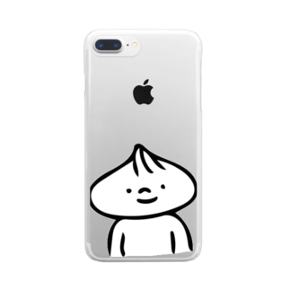 肉まんまん(胸より上) Clear smartphone cases