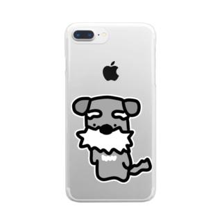 シュナ!はかしこそうな犬! Clear smartphone cases
