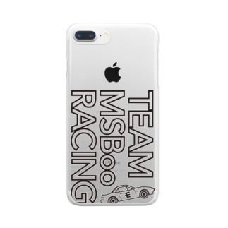 TEAM モタスポ部 RACING Clear smartphone cases