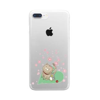 もぐ&ジュリ Clear smartphone cases