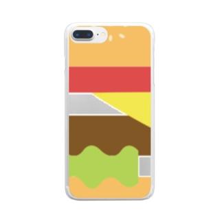 ハンバーガー 単品 Clear smartphone cases
