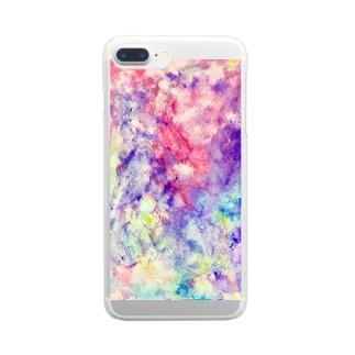 ビスマスモチーフ Clear smartphone cases