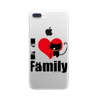 I LOVE Family Clear smartphone cases