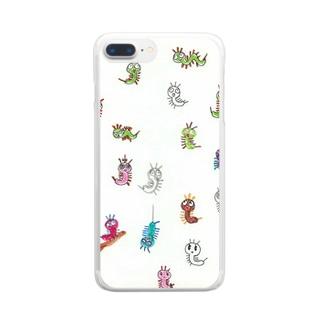 たくさんケムタン Clear smartphone cases