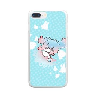 ぽわぷか海洋生物くらげ少女 Clear smartphone cases