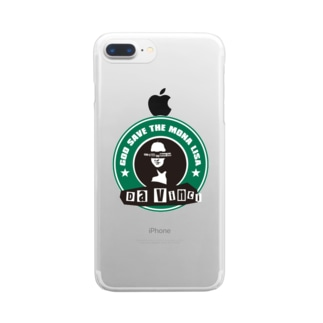 GOD_SAVE_THE_MONA_LISA Clear smartphone cases