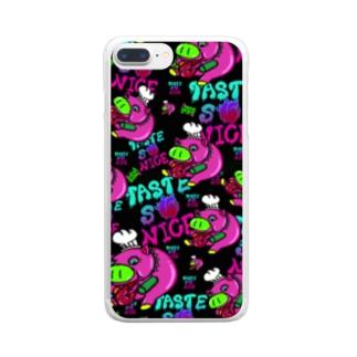 病みYummy PIGGY Clear smartphone cases