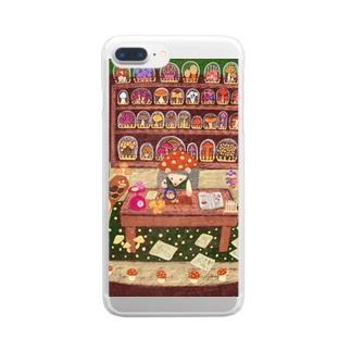 キノコ研究家のハリネズミくん Clear smartphone cases