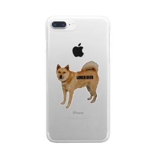 LUNCH BEER DOG Clear smartphone cases