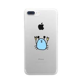 ミナミコメツキガニ Clear smartphone cases