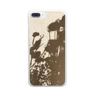 壁の影 Clear smartphone cases