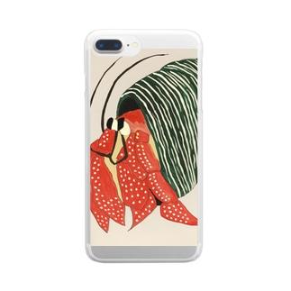 ヤドカリ Clear smartphone cases