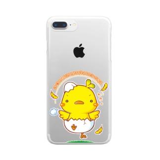 ゆうきのヒヨコ Clear smartphone cases