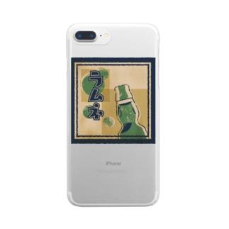 ラムネラベル Clear smartphone cases