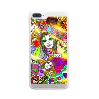 愛フォンケースTwinkle.ver_Gold Clear smartphone cases