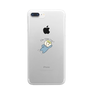 BeBe ~飛んでいく ~ Clear smartphone cases