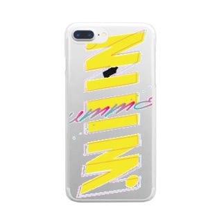 夏まっさかさま Clear smartphone cases