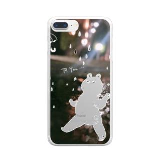 梅雨のダンス Clear smartphone cases