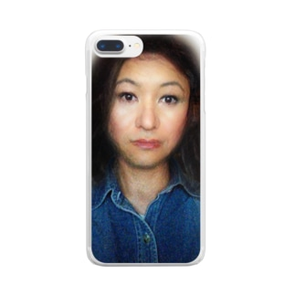 謎の美女 Clear smartphone cases