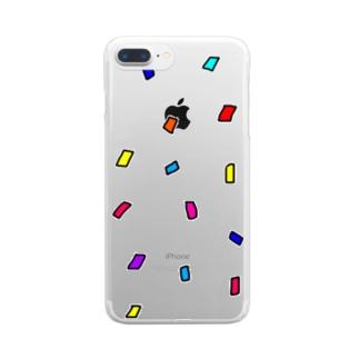 紙吹雪 Clear smartphone cases