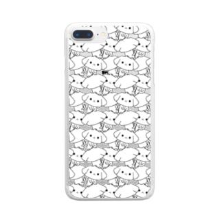 マルチーズ詰め Clear smartphone cases