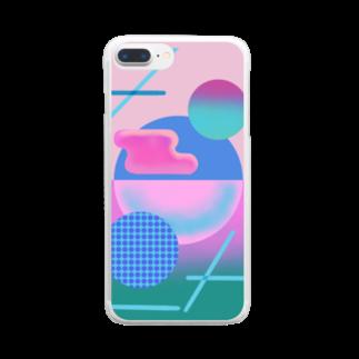 𝑷𝑶𝑾𝑬𝑹のコブ Clear smartphone cases