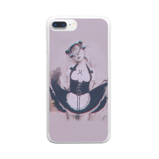 P792-002fetish maid Clear smartphone cases