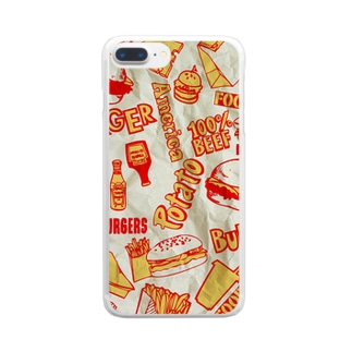 BURGERSHOP (PAPER) Clear smartphone cases