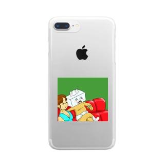 しこちゅ~大王 Clear smartphone cases
