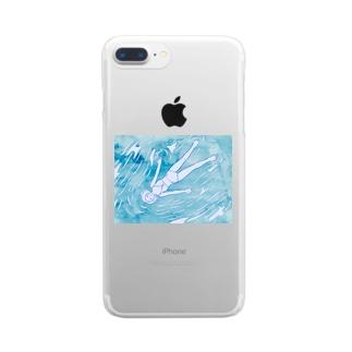 なみにまかせて Clear smartphone cases