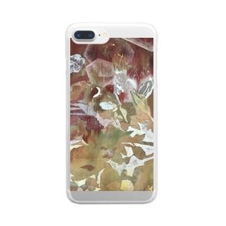 「憂愁」 Clear smartphone cases