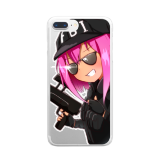 nitaihachiのひだりちゃんスマホケース Clear smartphone cases