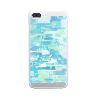 幾重にもかさなる音楽 B Clear smartphone cases