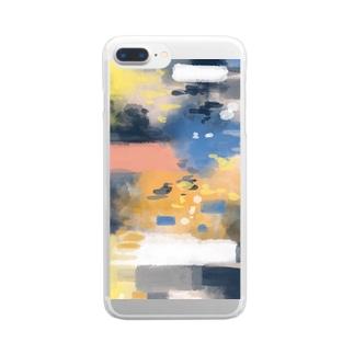 憧れにもがく Clear smartphone cases