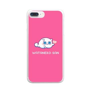 わたねこさん Clear smartphone cases
