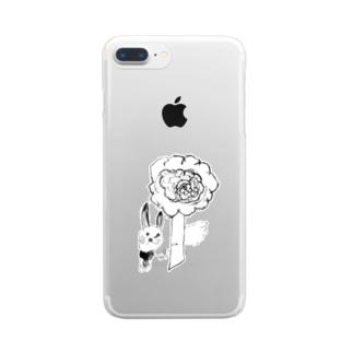 おはな と ぴょんちゃん Clear smartphone cases
