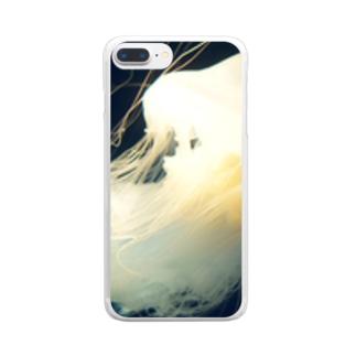 スナイロクラゲ Clear smartphone cases