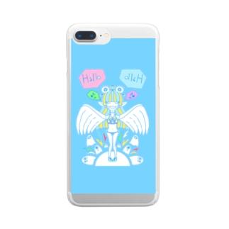 かわいいやつ Clear smartphone cases