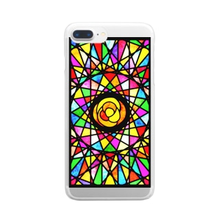ステンドグラス風カバー Clear smartphone cases