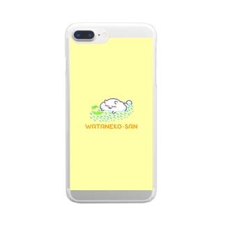 わたねこさん(おひるね) Clear smartphone cases