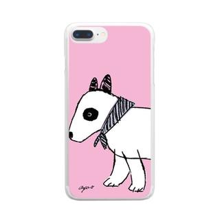 ブルテリアのフィーカ Clear smartphone cases