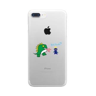 宇宙人うんちの恐竜と宇宙人うんち Clear Smartphone Case