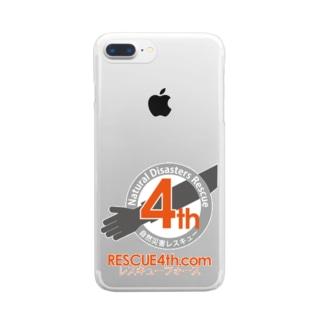自然災害レスキュー RESCUE4th Clear smartphone cases