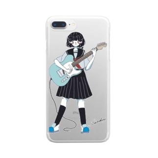 テレキャスJK Clear smartphone cases