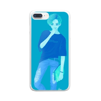BOY -blue Clear smartphone cases
