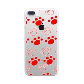 ねこけんはんこ Clear smartphone cases