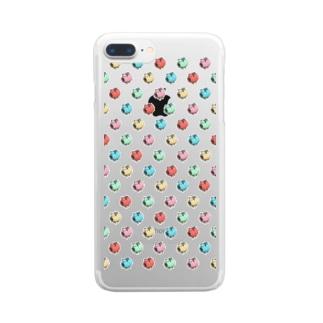 スーパー豚ちゃんマン'sのケース Clear smartphone cases