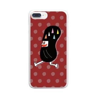 だるま忍者(akajya) Clear smartphone cases