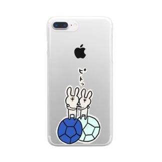 【ボッチャ】ジャックボールにピトッ Clear smartphone cases